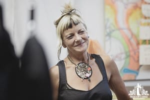 candid photography of Annie Thompson designs pop up shop by Vancouver contemporary portrait photographer Angela McConnell