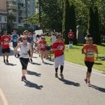 Runners participating in Scotia Bank Half Marathon in Vancouver