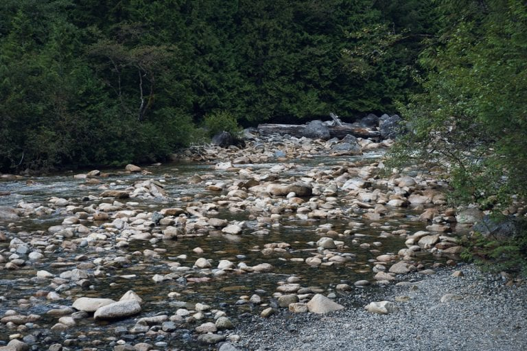 Landscape image of boulders in a river at Golden Ears Provincial Park