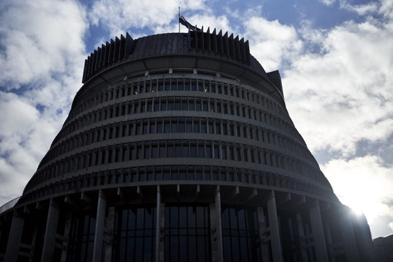 Image of New Zealand parliamentary building, The Beehive in Wellington