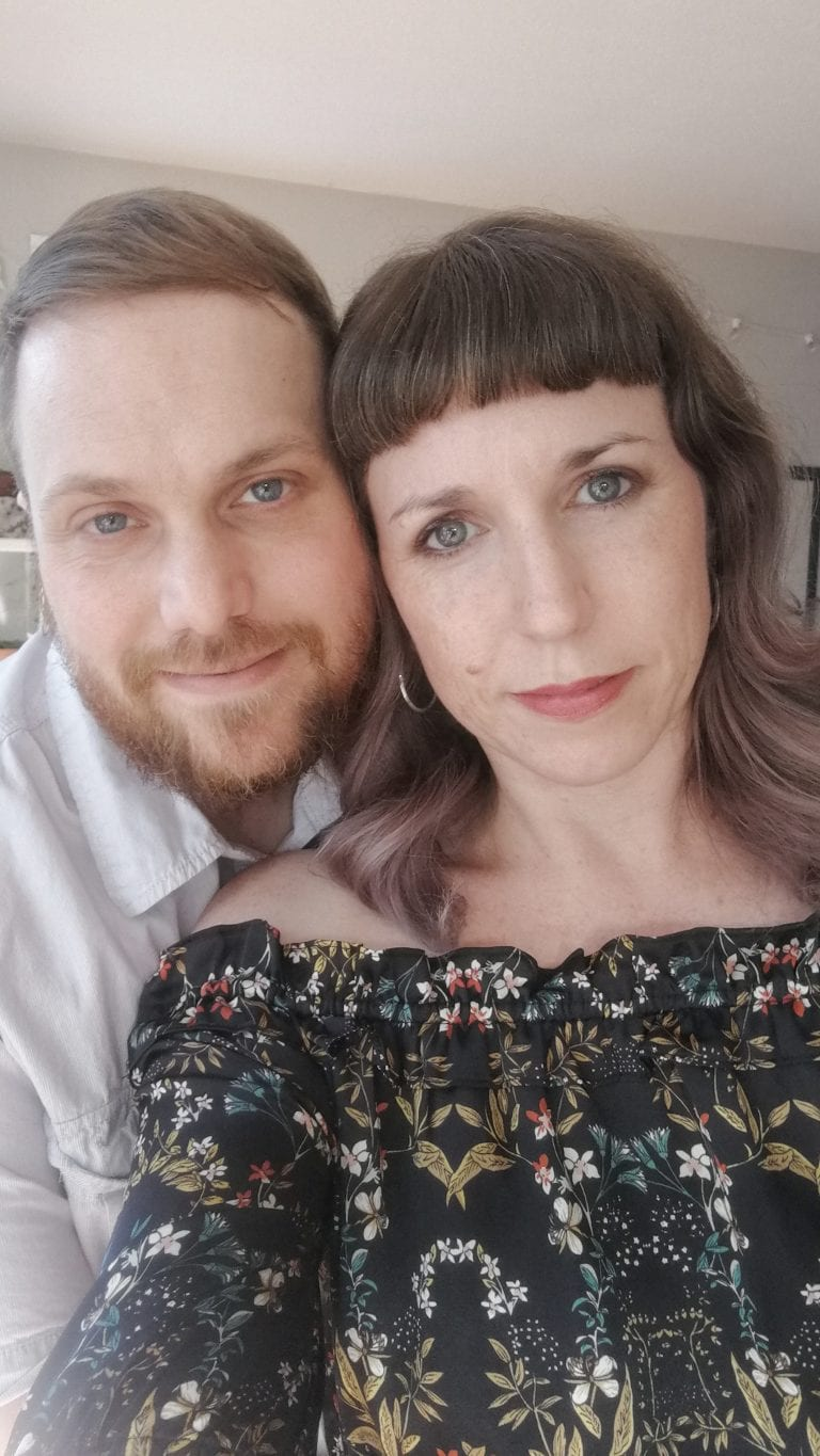 An image of vancouver photographer Angela McConnell and her husband where she shares more about Angela