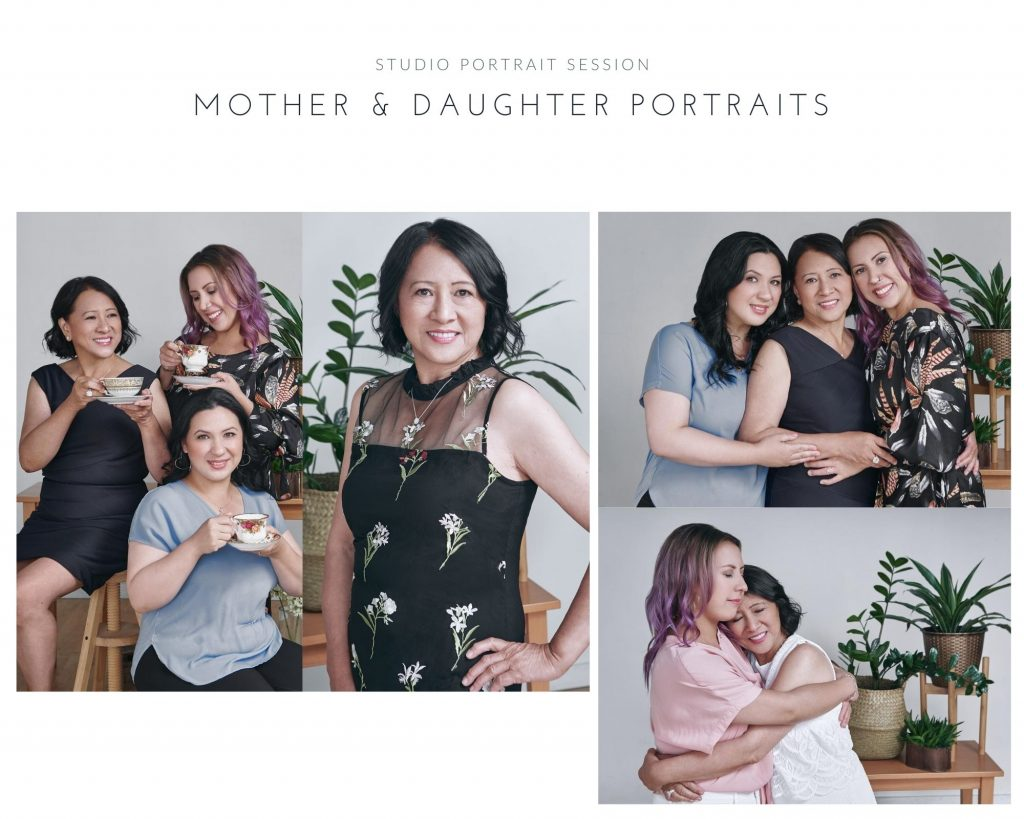 Studio portraits showing women's portrait photography examples in Vancouver by Photography by Angela McConnell